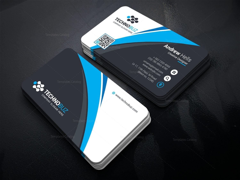 Top Class Business Card Template 000740 - Template Catalog