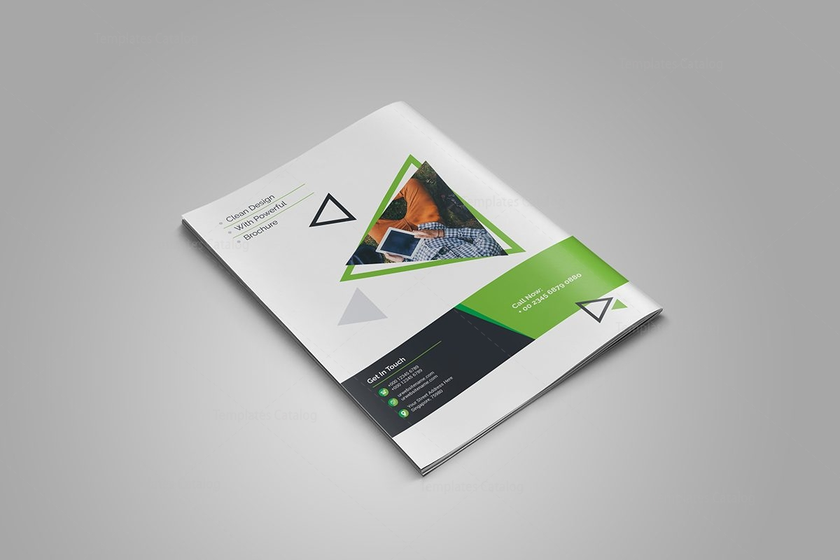 Topaz corporate bi fold brochure template 000722 for Corporate bi fold brochure template