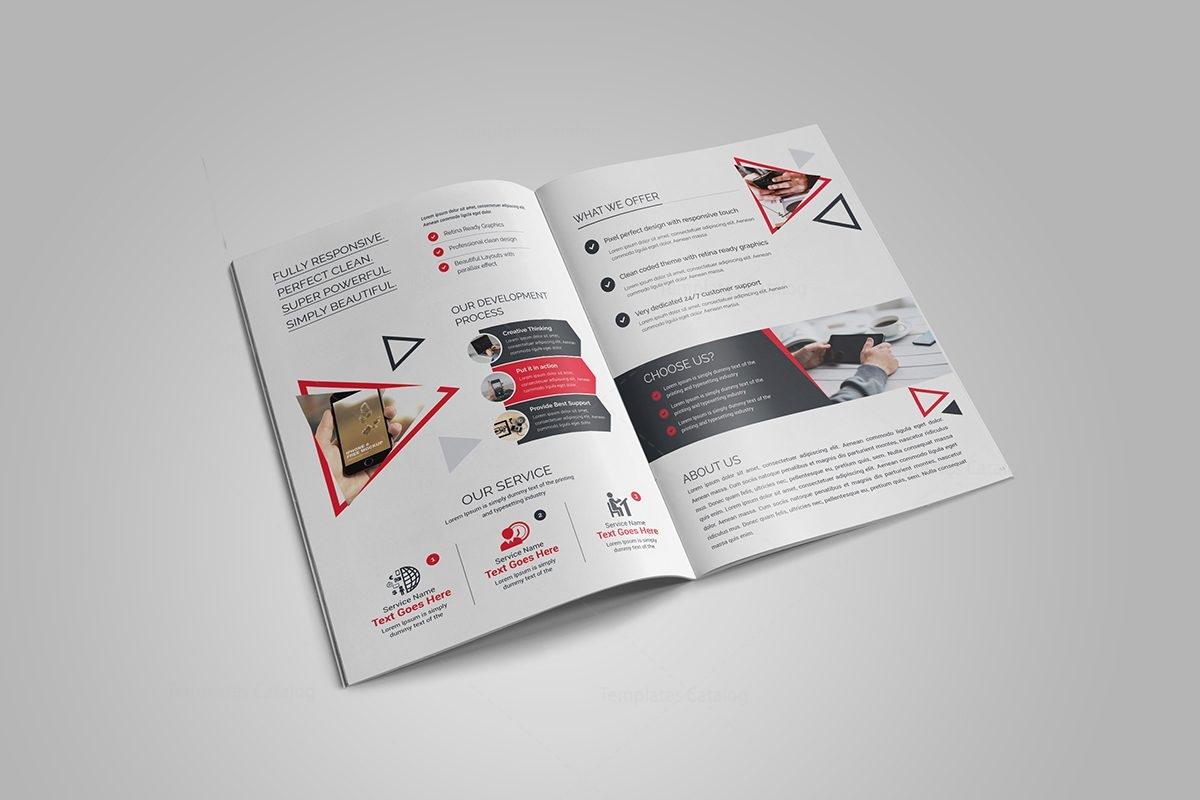 Corporate Bi Fold Brochure Template Choice Image