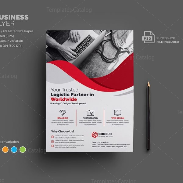 Uranus Corporate Flyer Template   Template Catalog