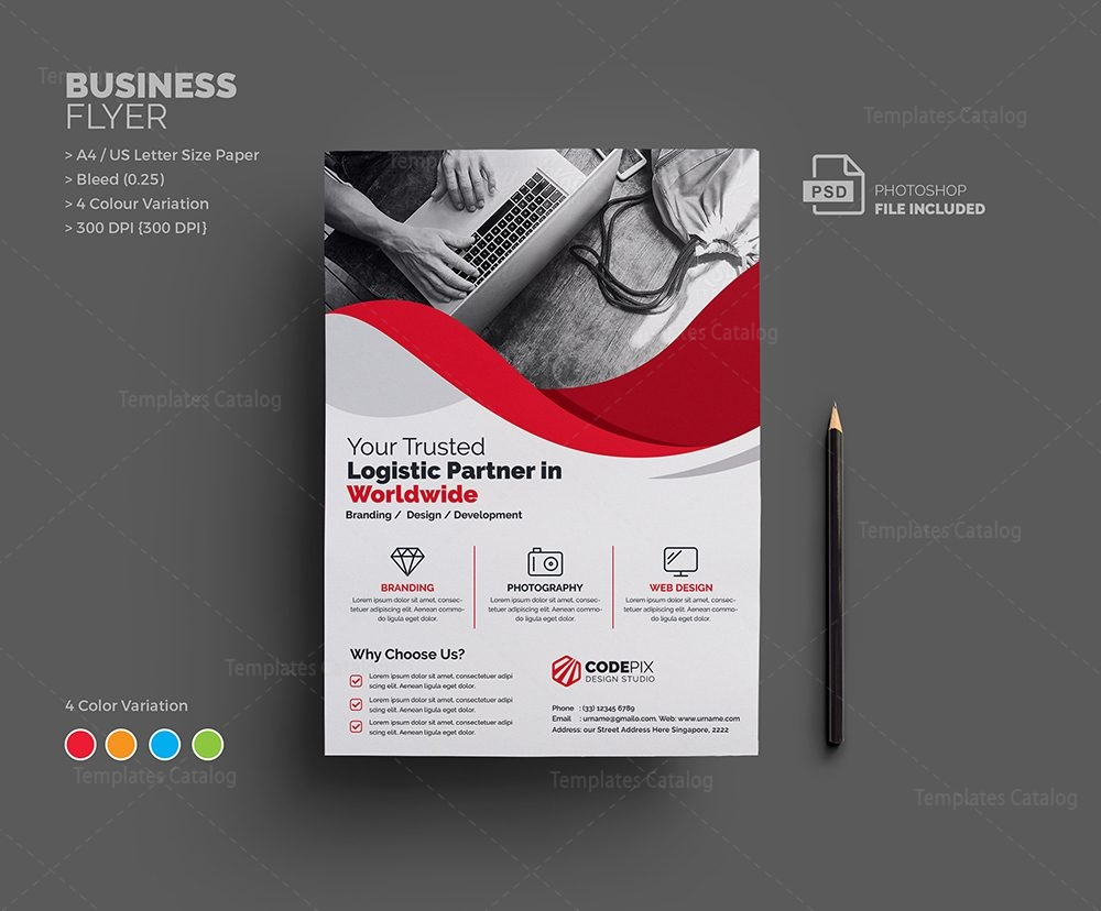 uranus corporate flyer template 000648 template catalog