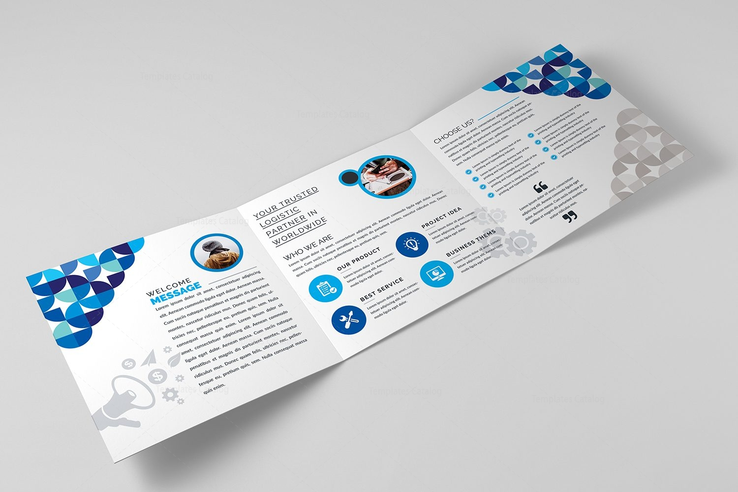Vega corporate tri fold brochure template 000671 for Corporate tri fold brochure template