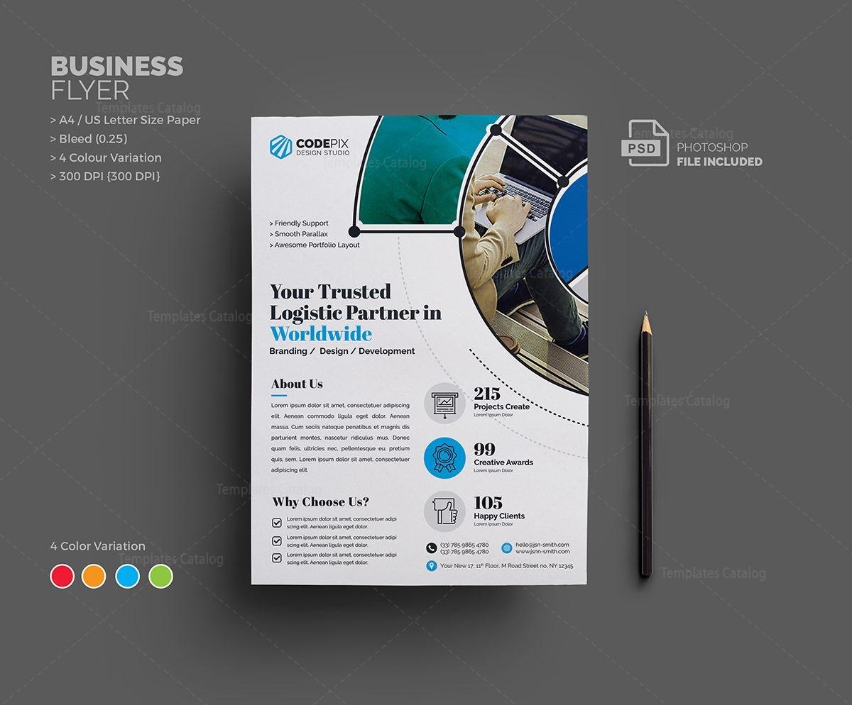 Venus Corporate Flyer Template 000649 - Template Catalog
