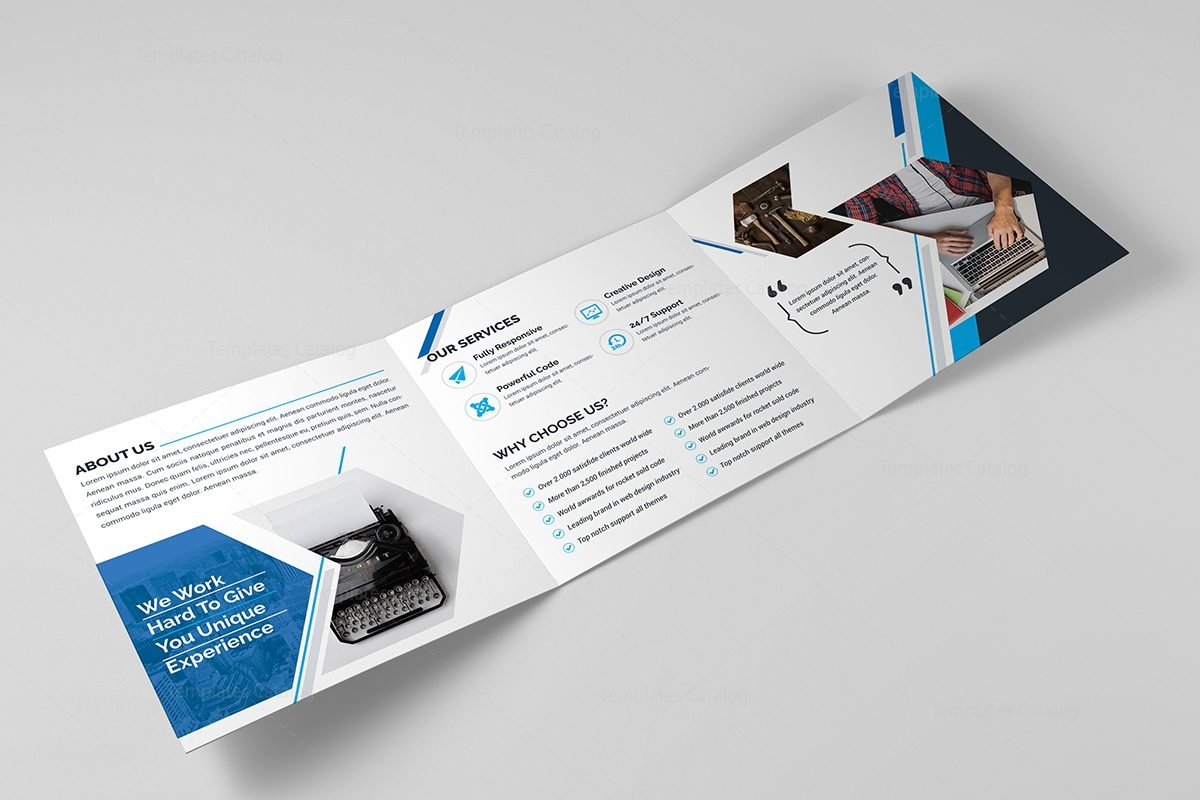 Venus corporate tri fold brochure template 2 template catalog for Two fold brochure templates