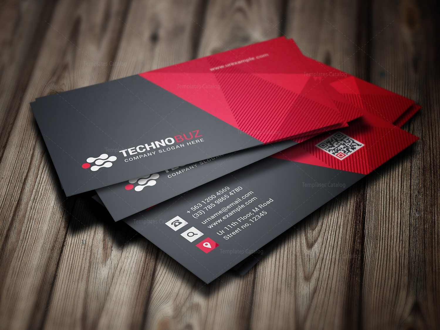 Vision modern business card template 000785 template catalog vision modern business card template 1 colourmoves