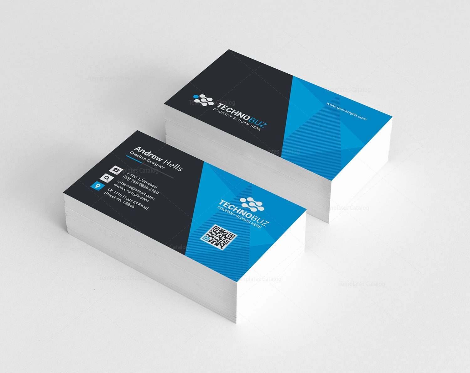vision modern business card template 000785 template catalog