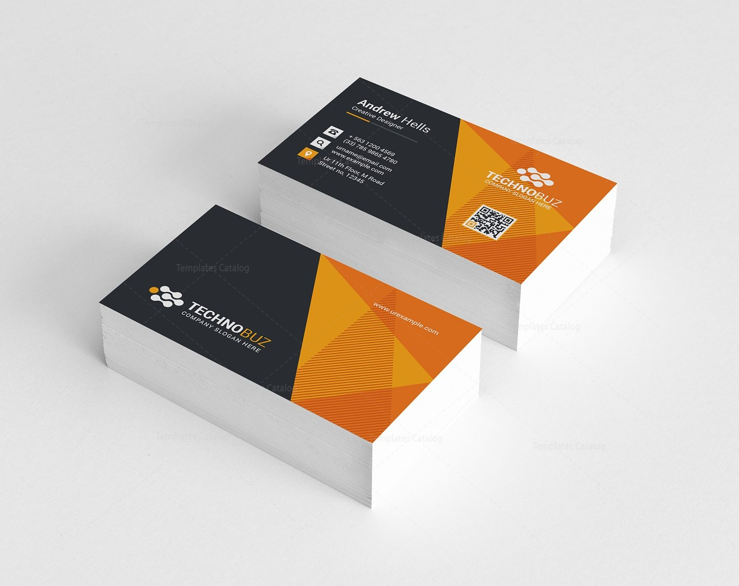 Vision modern business card template 000785 template catalog vision modern business card template 4 fbccfo Gallery