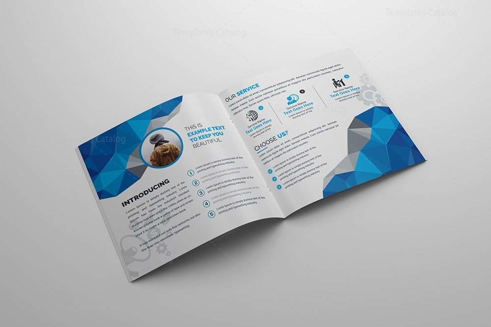 Vision Square Bi Fold Corporate Brochure Template 000787 Template