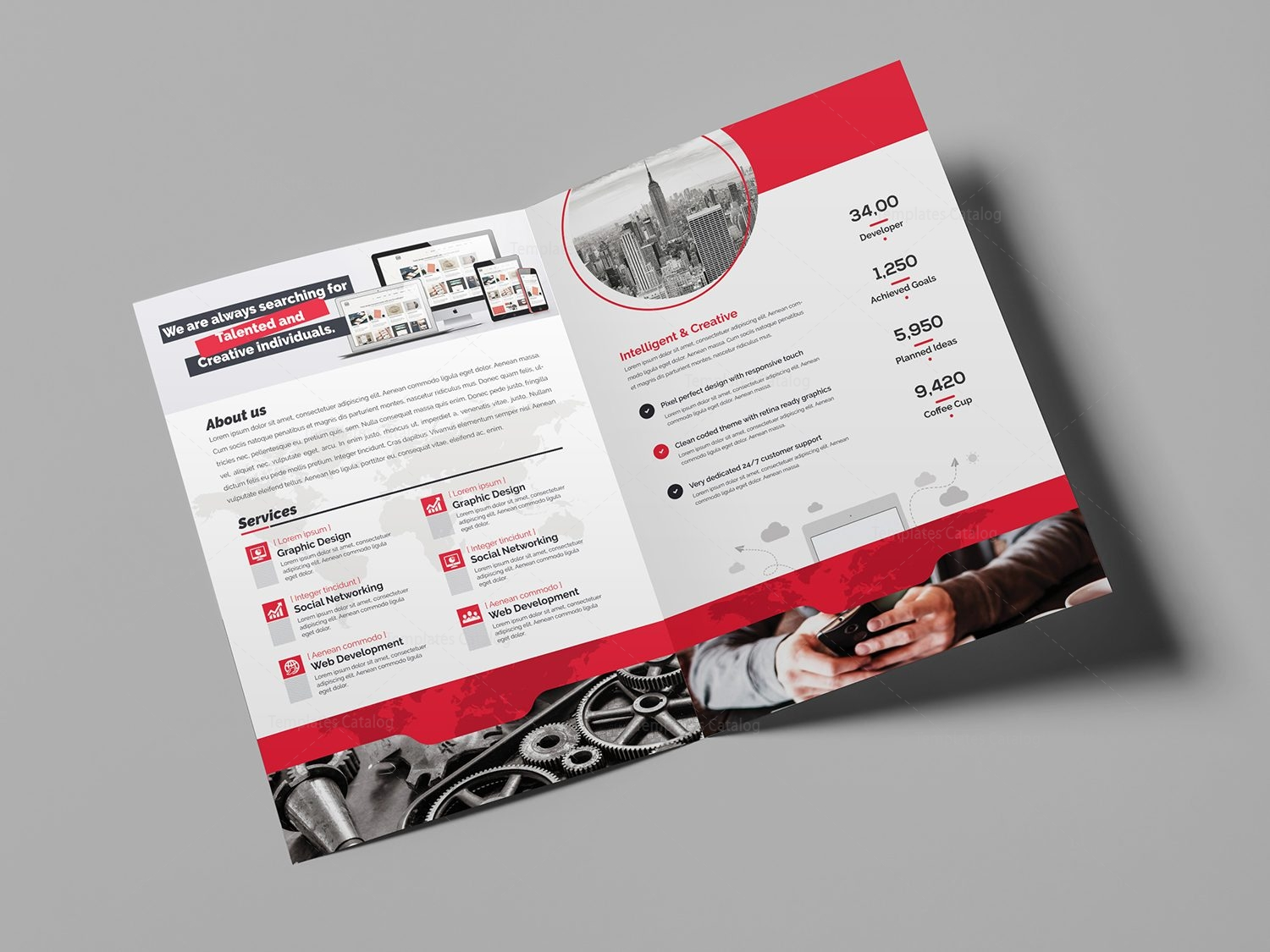 world bi-fold brochure template 000724