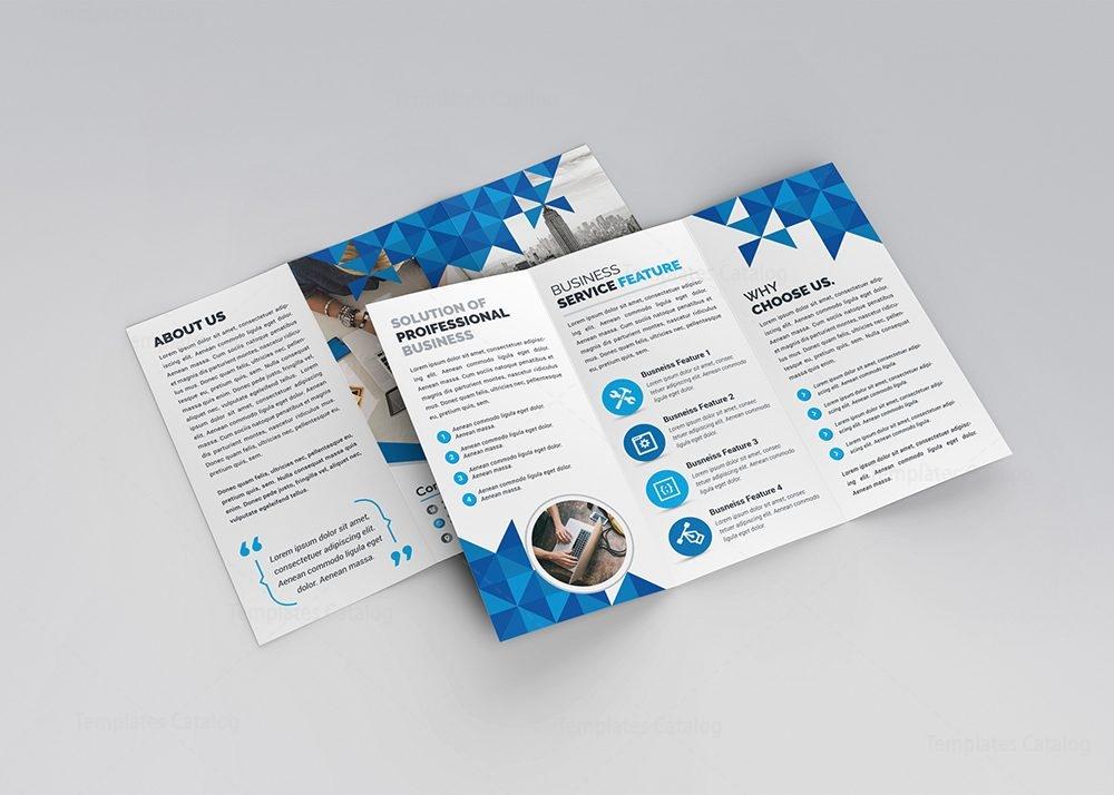 Zeus Modern TriFold Brochure Template Template Catalog - Modern brochure template