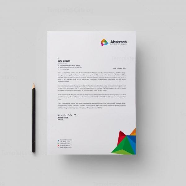 25 Professional Modern Letterhead Templates: Abstract Modern Corporate Letterhead Template 000878