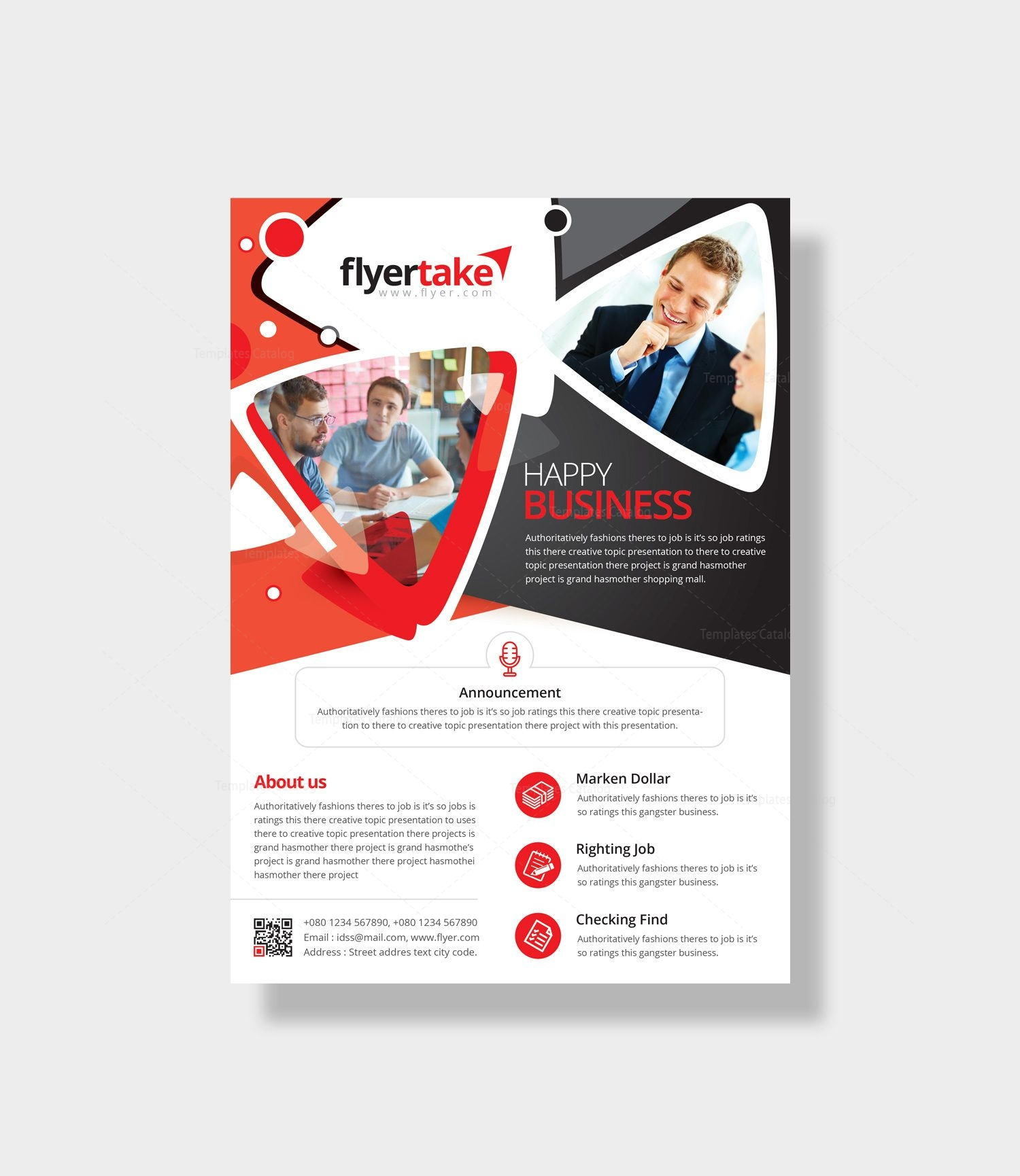 Announcement Flyer Template Vaydileforic