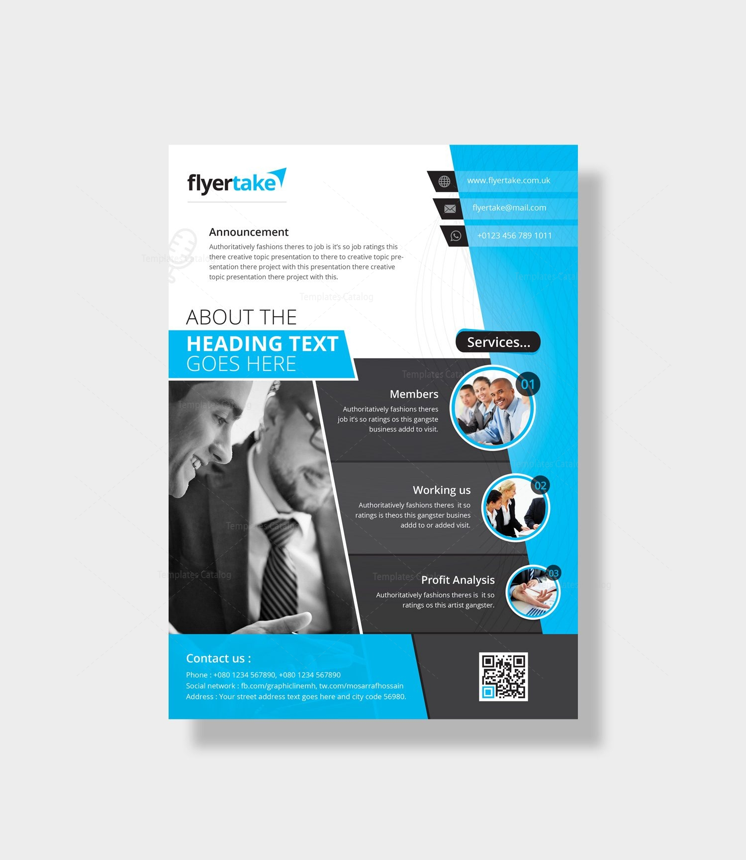 aeolus stylish corporate flyer template 000980 template catalog