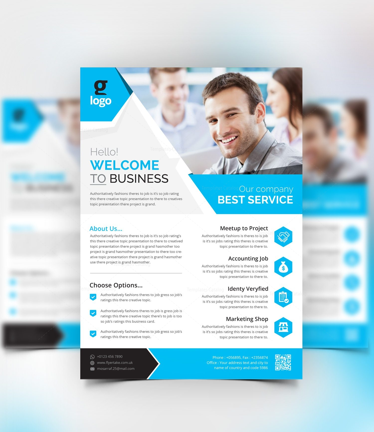 Aether Stylish Corporate Flyer Template Template Catalog - Company flyer template