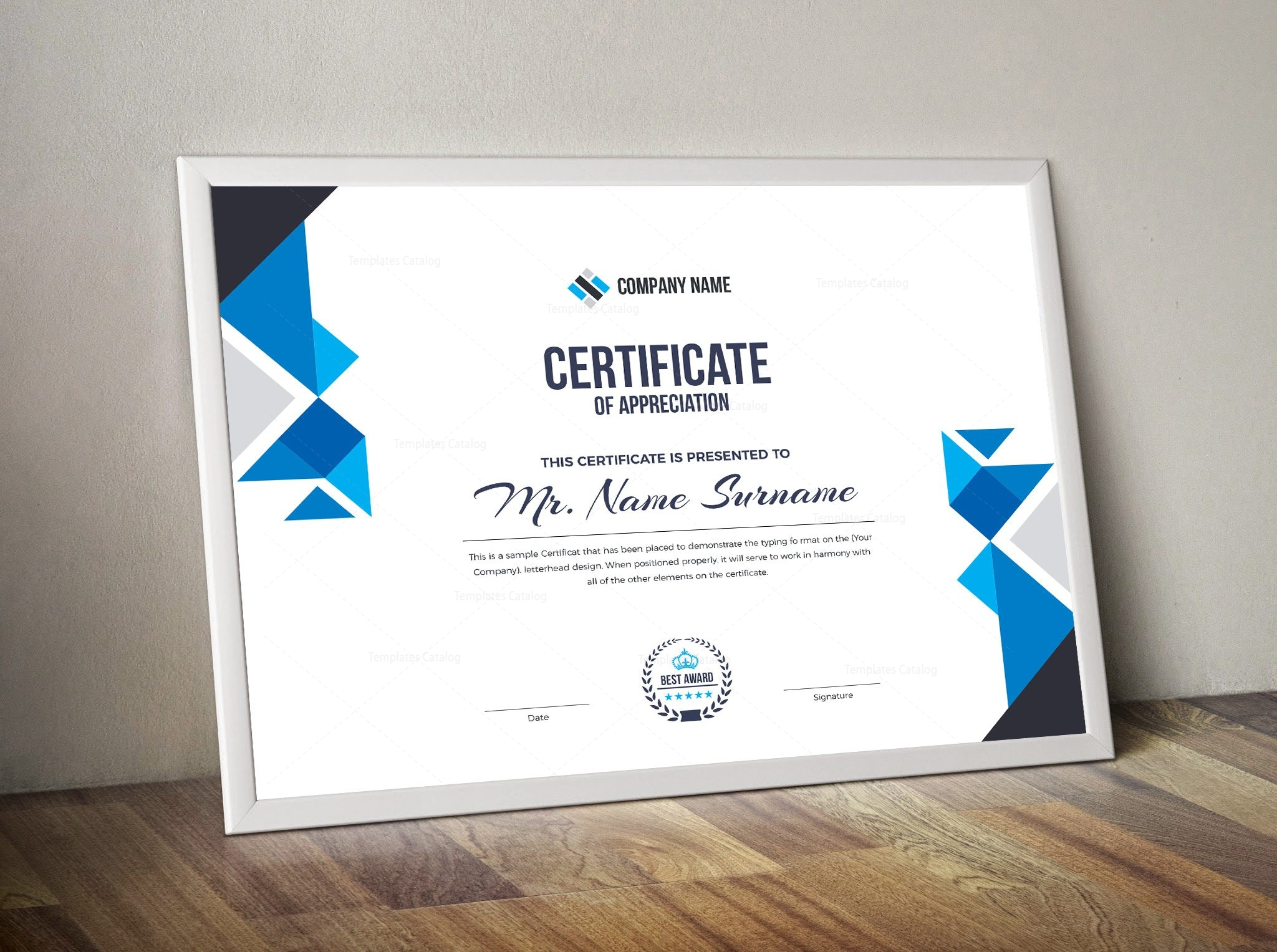 angel corporate certificate template 000852 template catalog