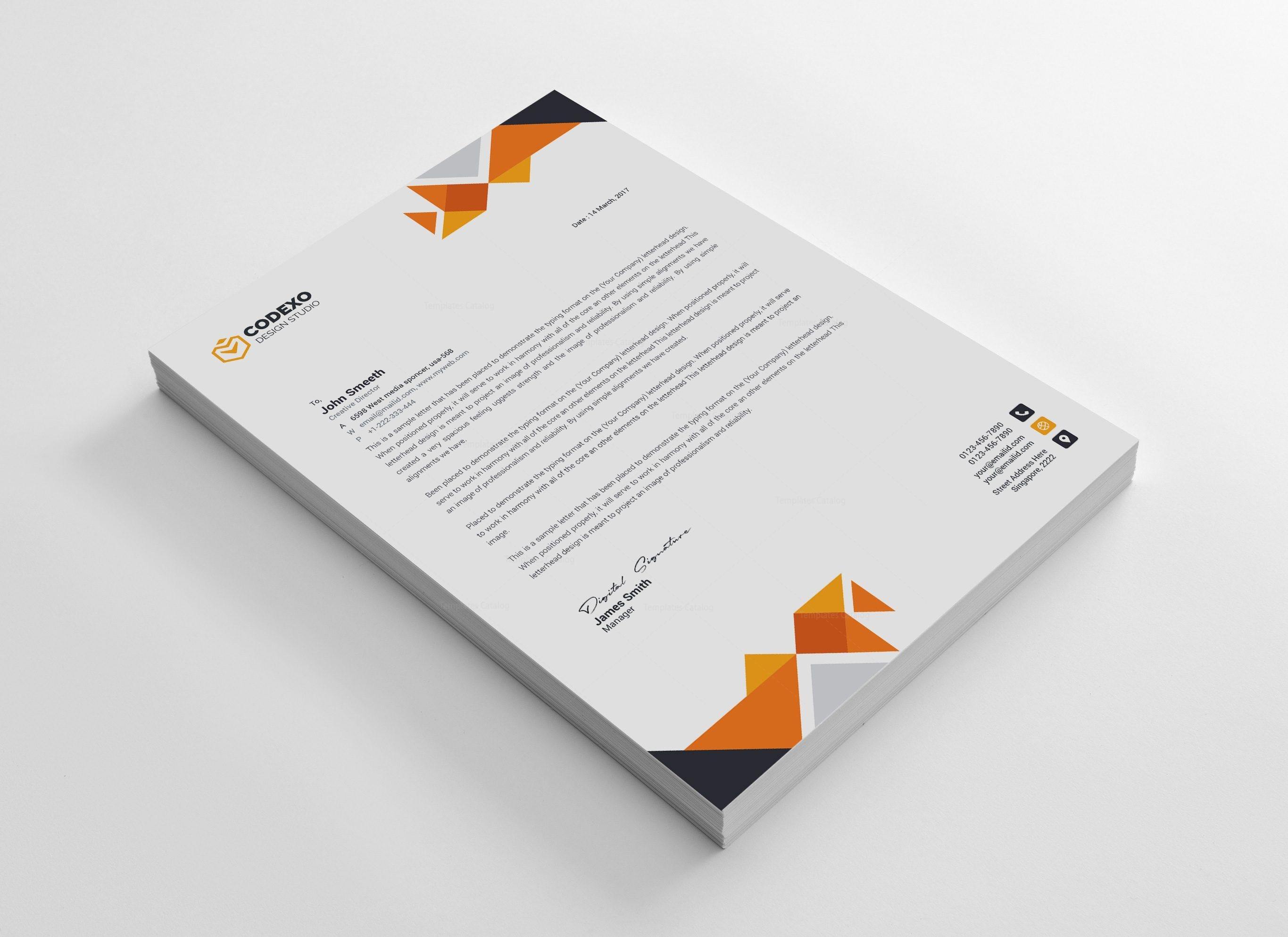 Angel Professional Corporate Letterhead Template 000898 - Template ...