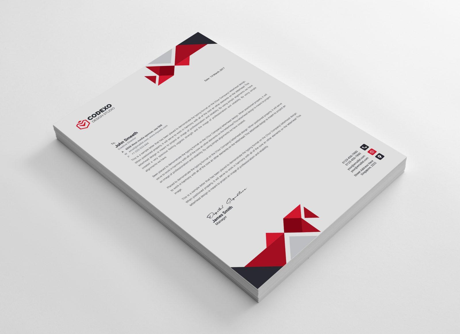 angel professional corporate letterhead template 000898