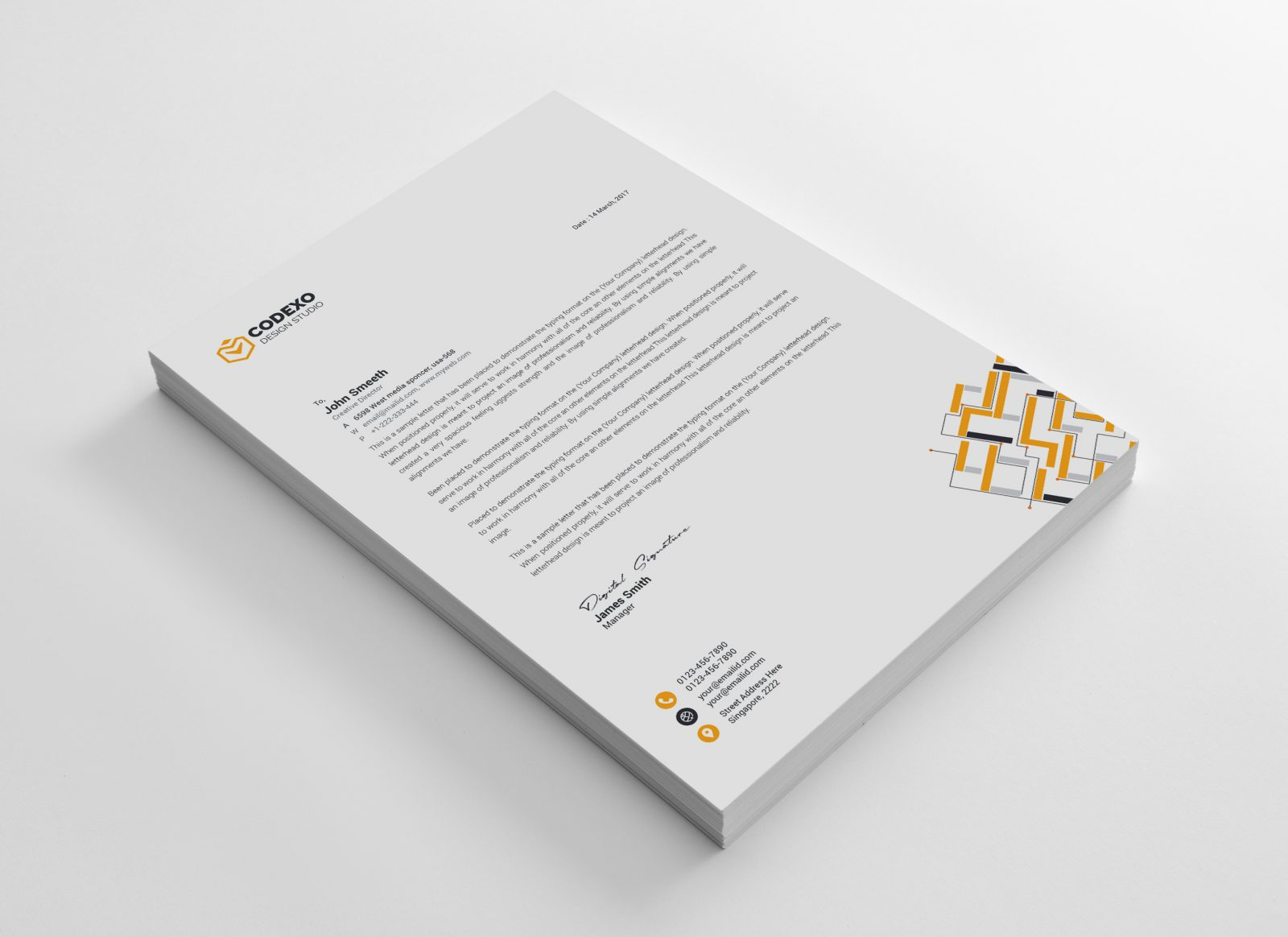 apollo modern corporate letterhead template 000883