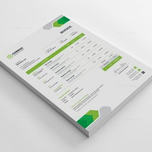 Arrow Stylish Corporate Invoice Template