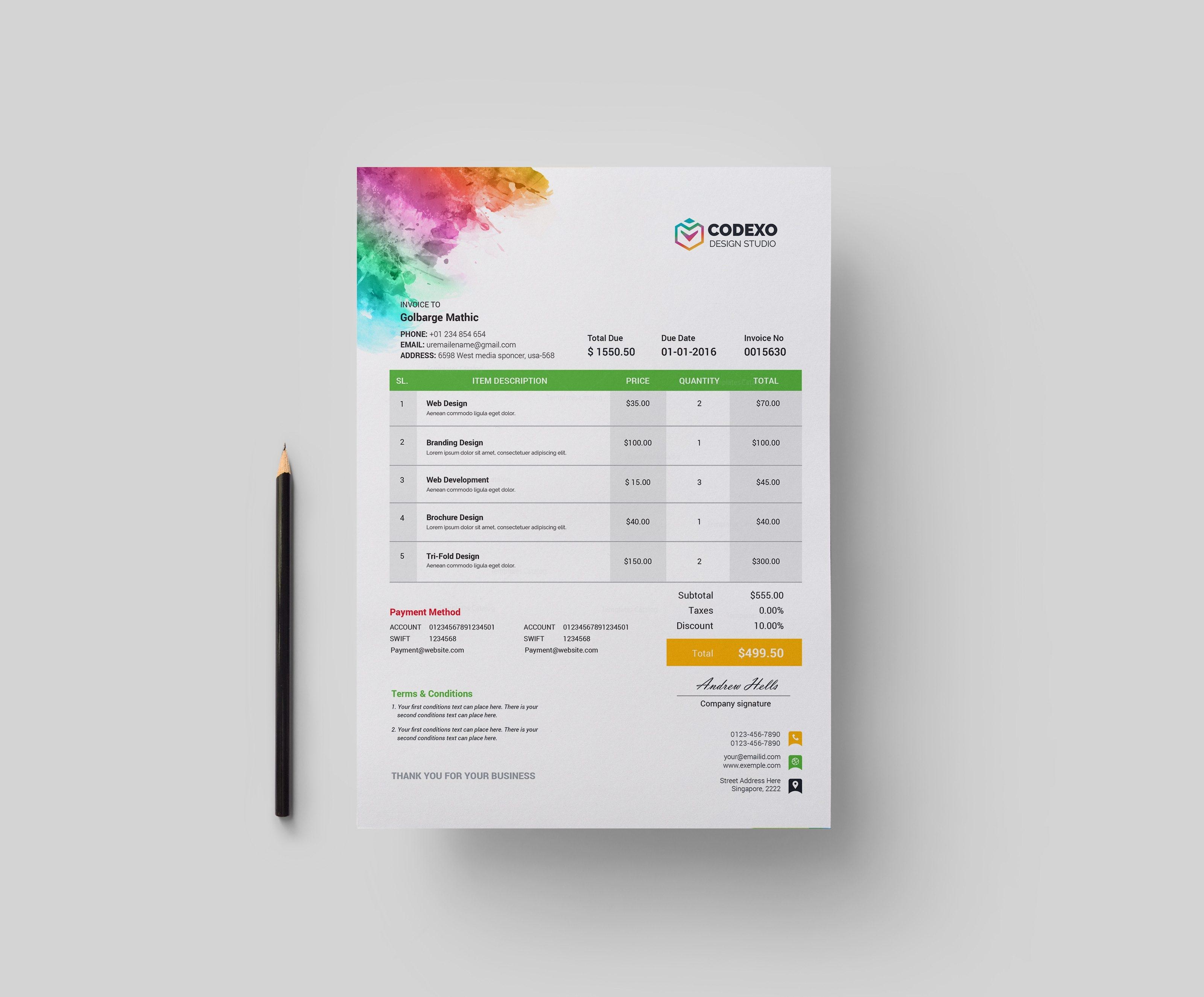 artemis corporate invoice template 000894 template catalog