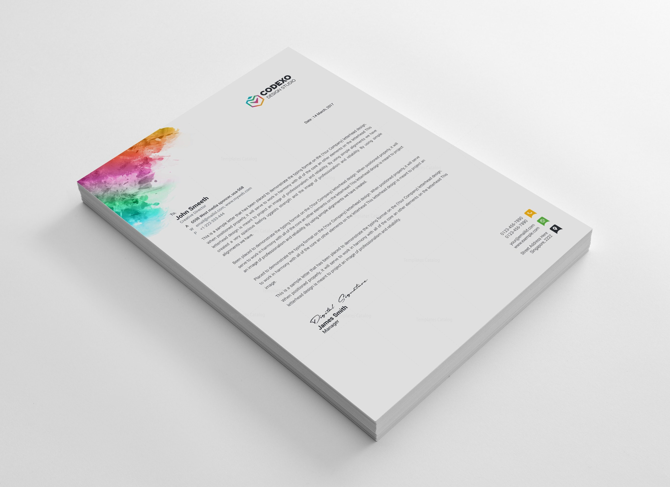 artemis modern corporate letterhead template 000884 template catalog