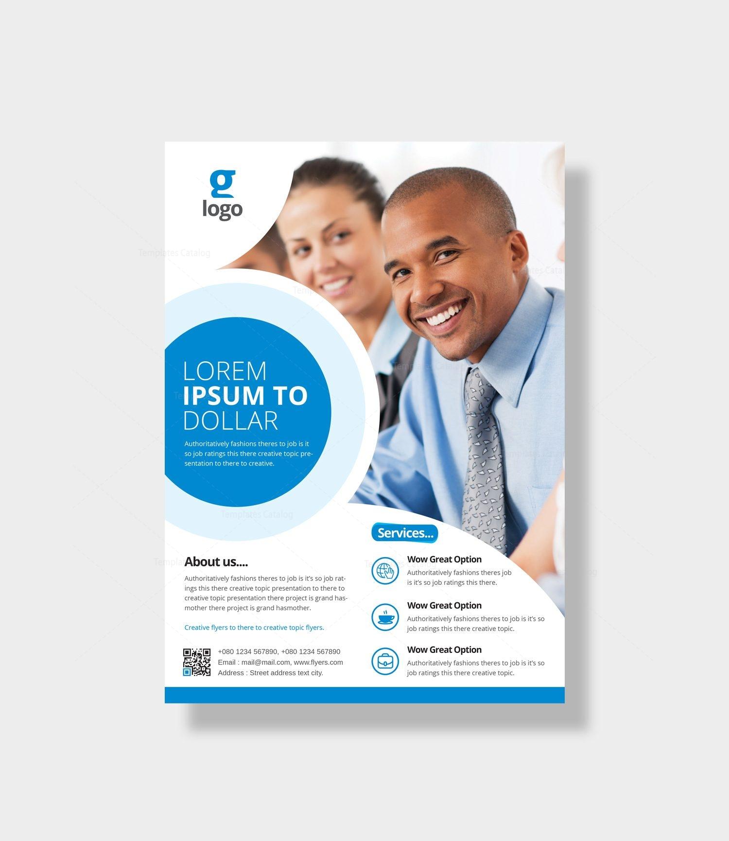 athena elegant corporate flyer template 000965 template catalog