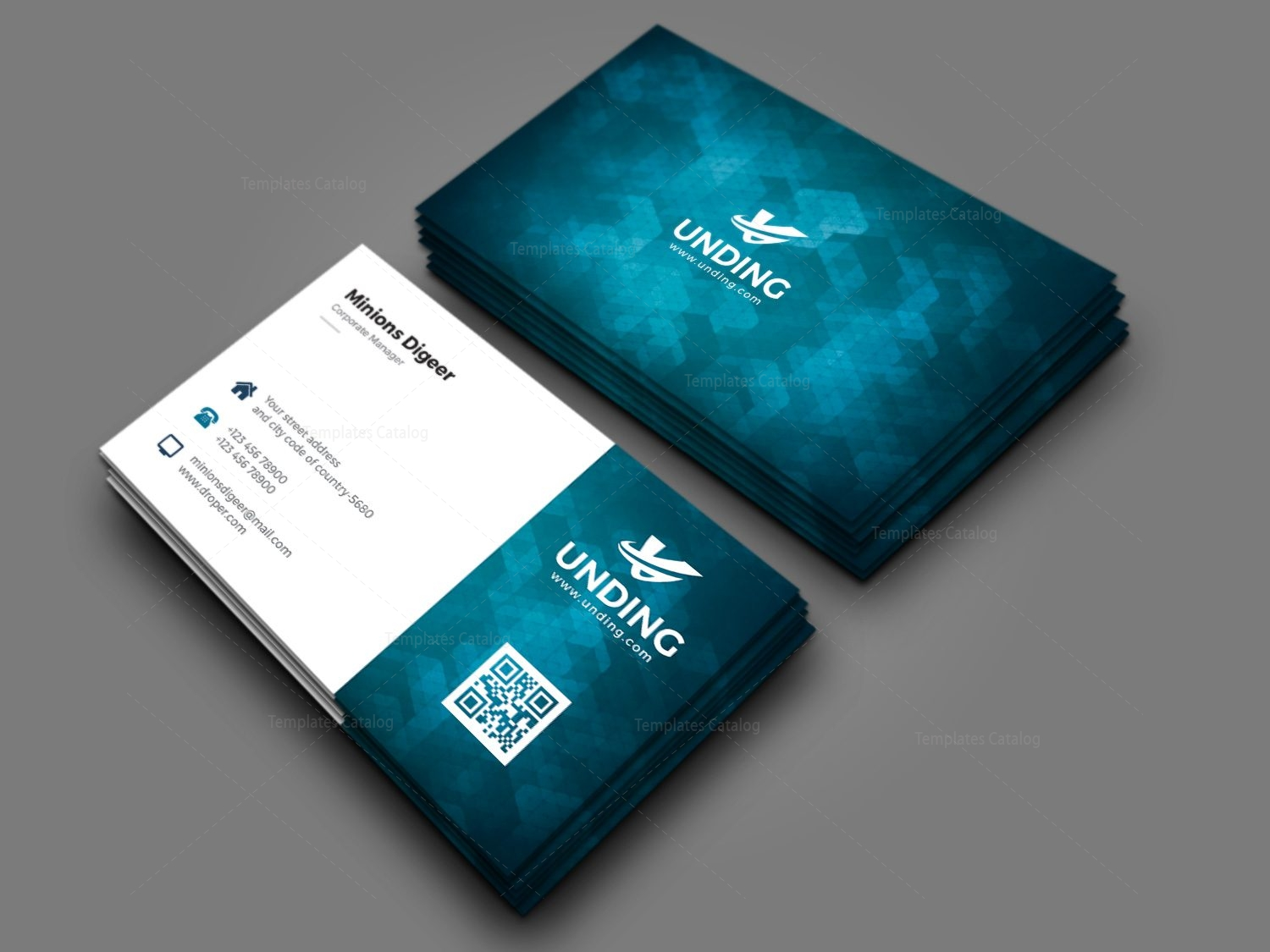 Aurora professional corporate business card template 000927 aurora professional corporate business card template 3 accmission Image collections