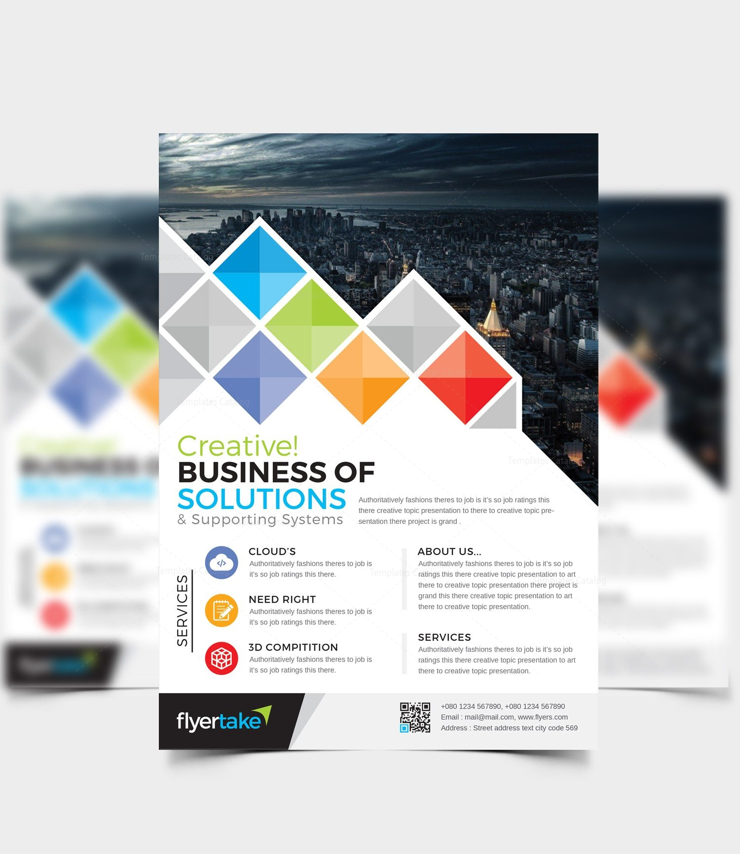 boreas stylish corporate flyer template 000985 template catalog