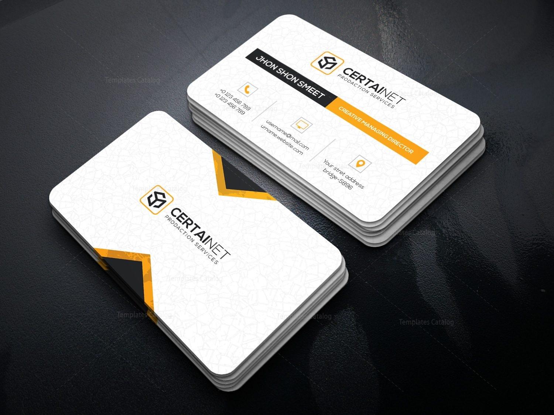 Brilliant elegant corporate business card template 000932 for Brilliant business cards