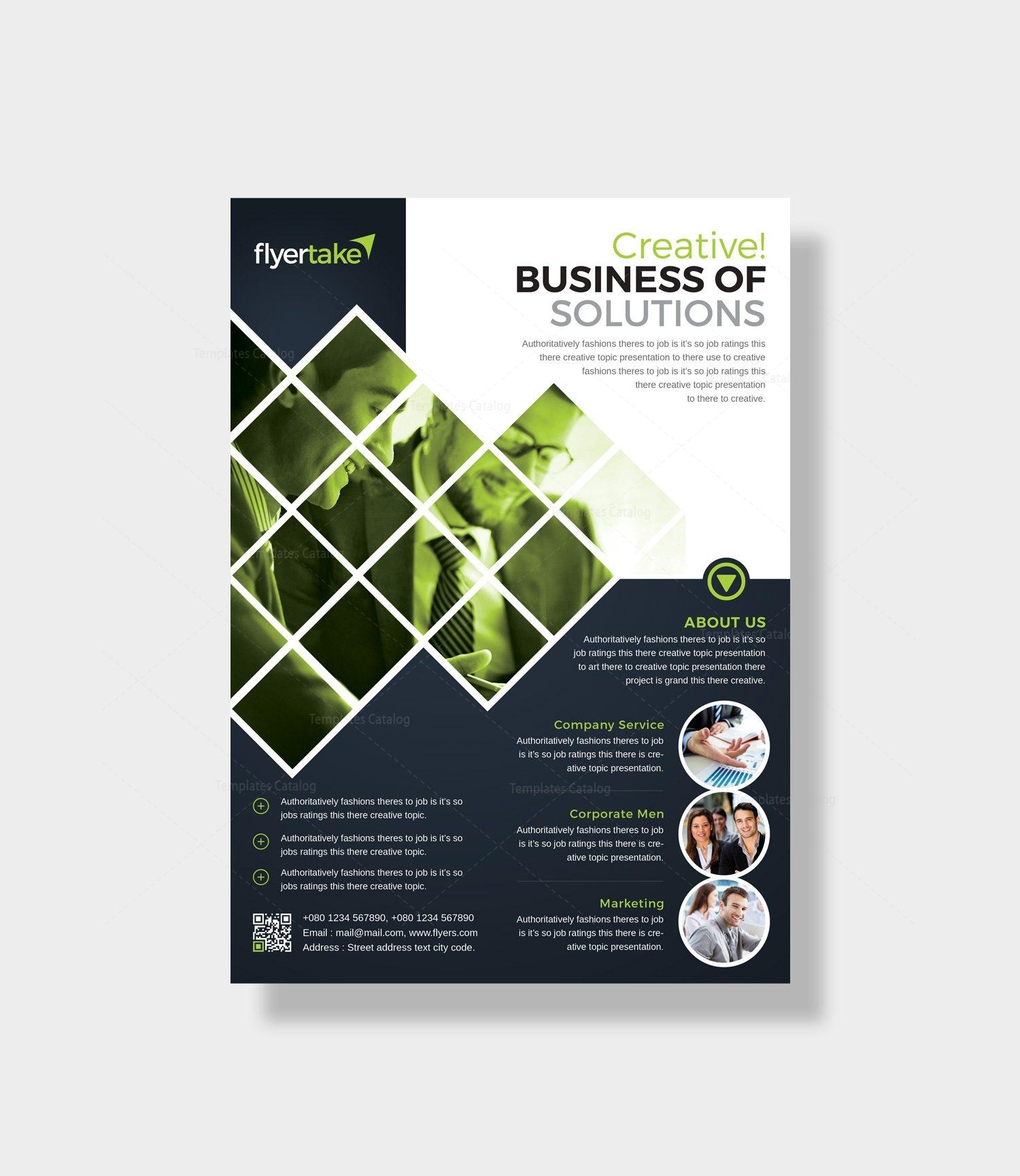 caerus stylish corporate flyer template 000986 template catalog