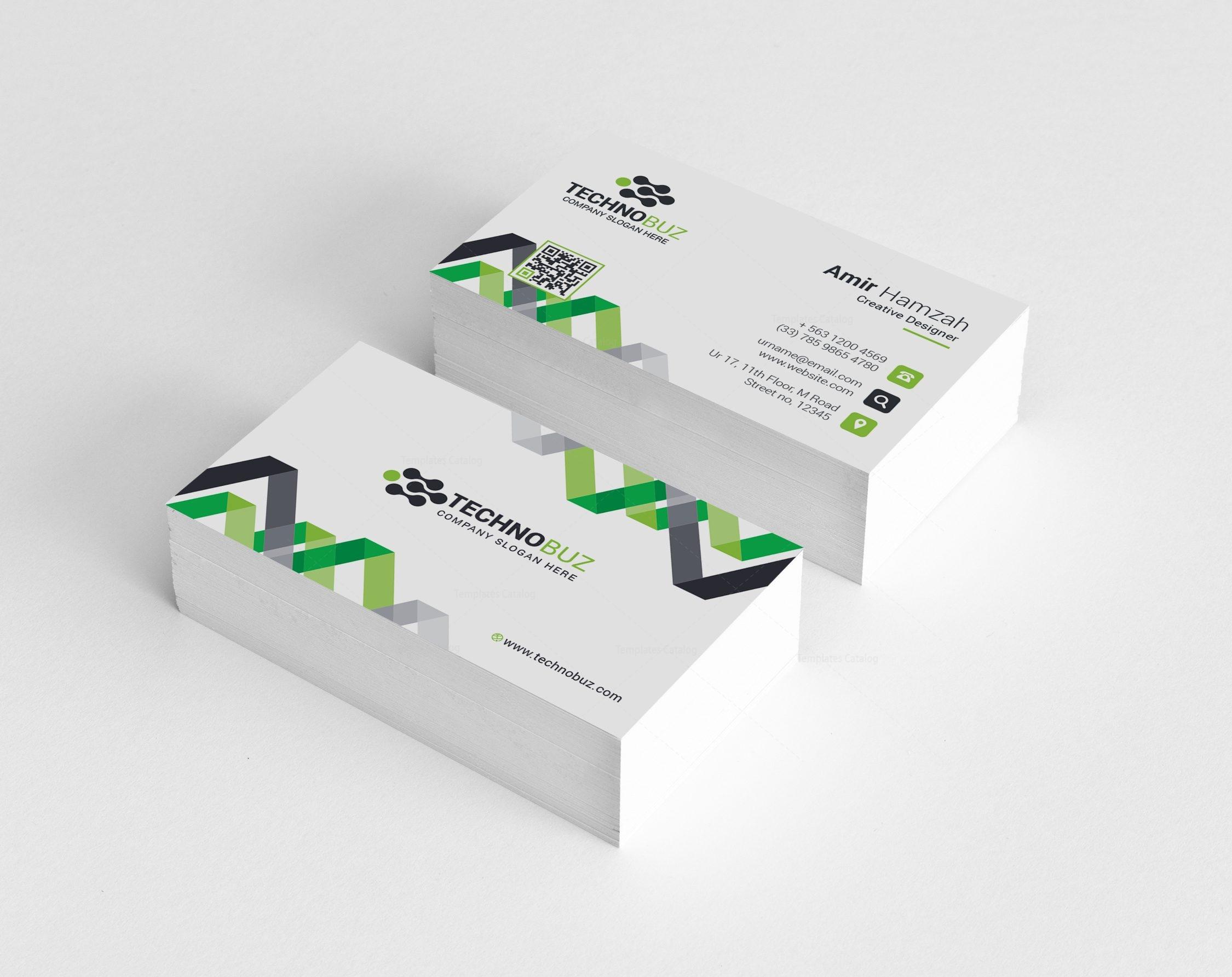 Chevron Elegant Corporate Business Card Template 000820 - Template ...