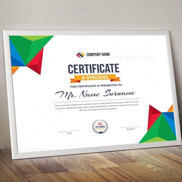 Colorful Landscape Certificate Template 000837 - Template Catalog