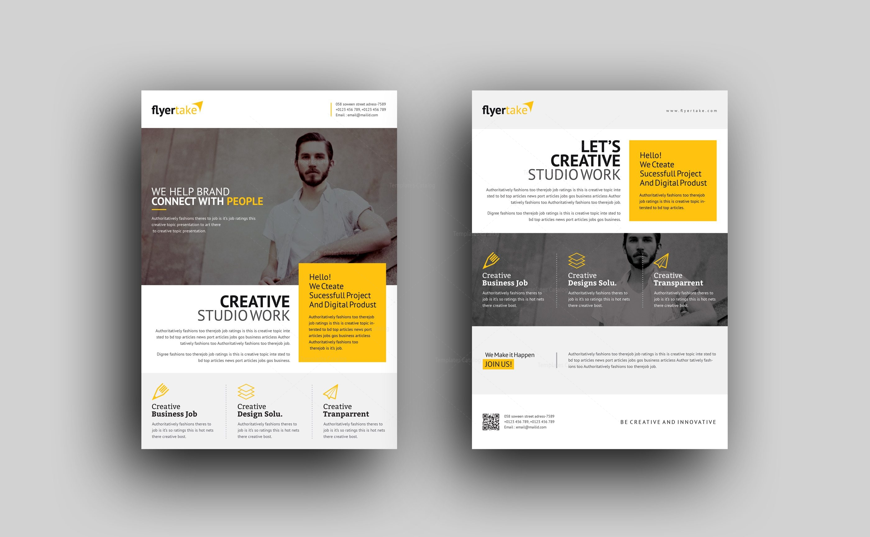 Cronus Professional Corporate Flyer Template 000991 - Template Catalog