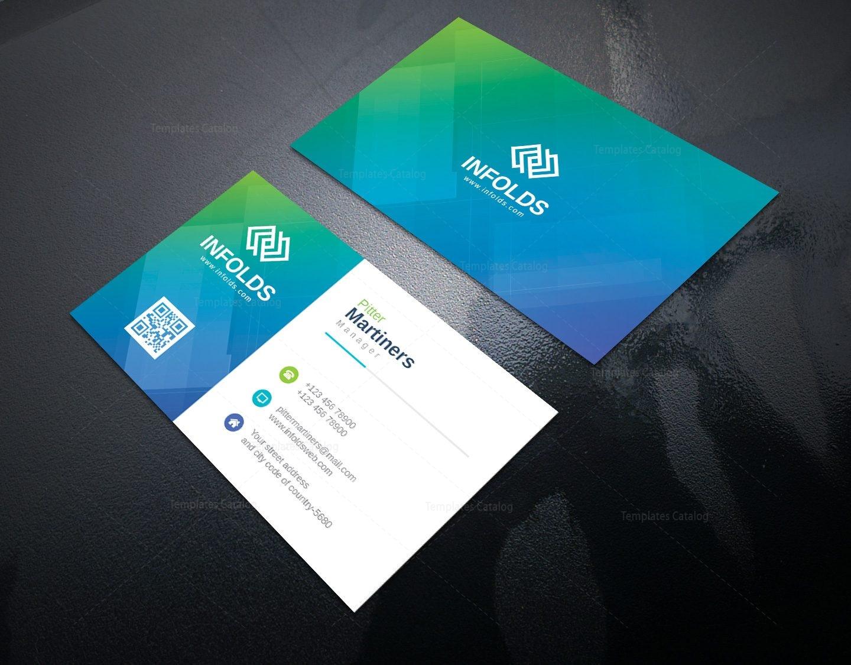 Cyan professional corporate business card template 000953 template cyan professional corporate business card template 2 colourmoves Choice Image