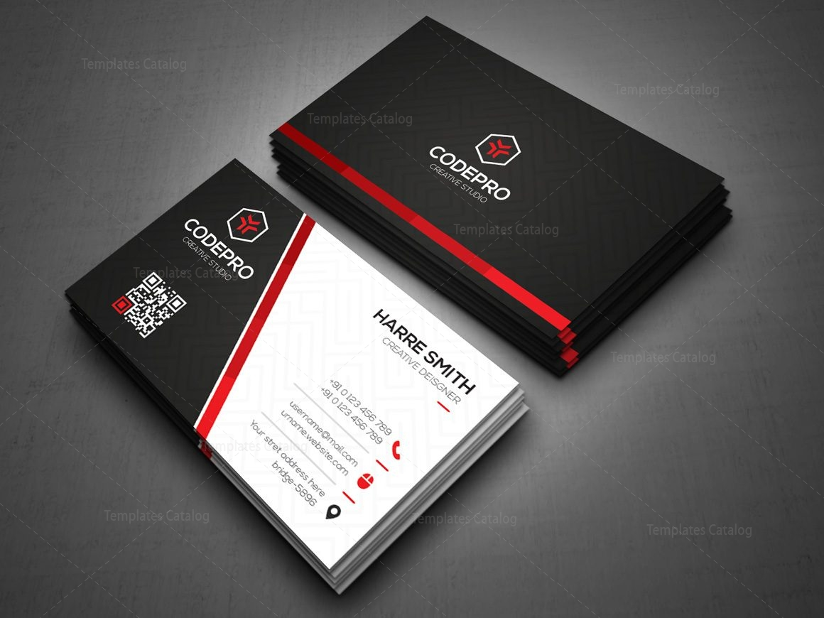 Dark Knight Stylish Corporate Business Card Template 000947 ...