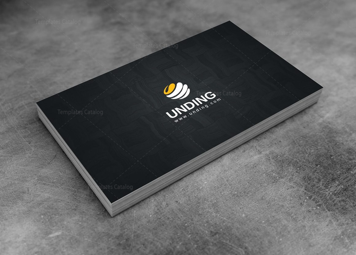 Dark Minimalist Corporate Business Card Template 000943 - Template ...