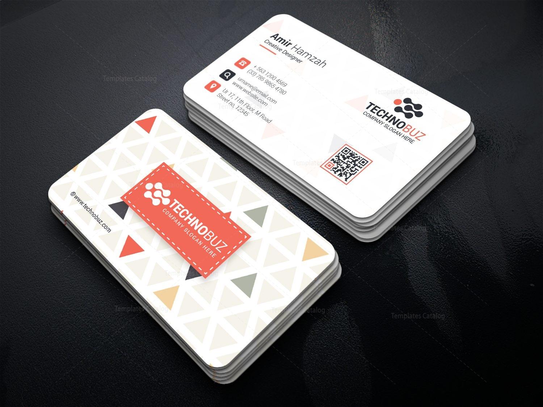 Demeter Classy Business Card Template 000818 - Template Catalog