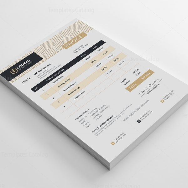 Demeter Stylish Corporate Invoice Template 2