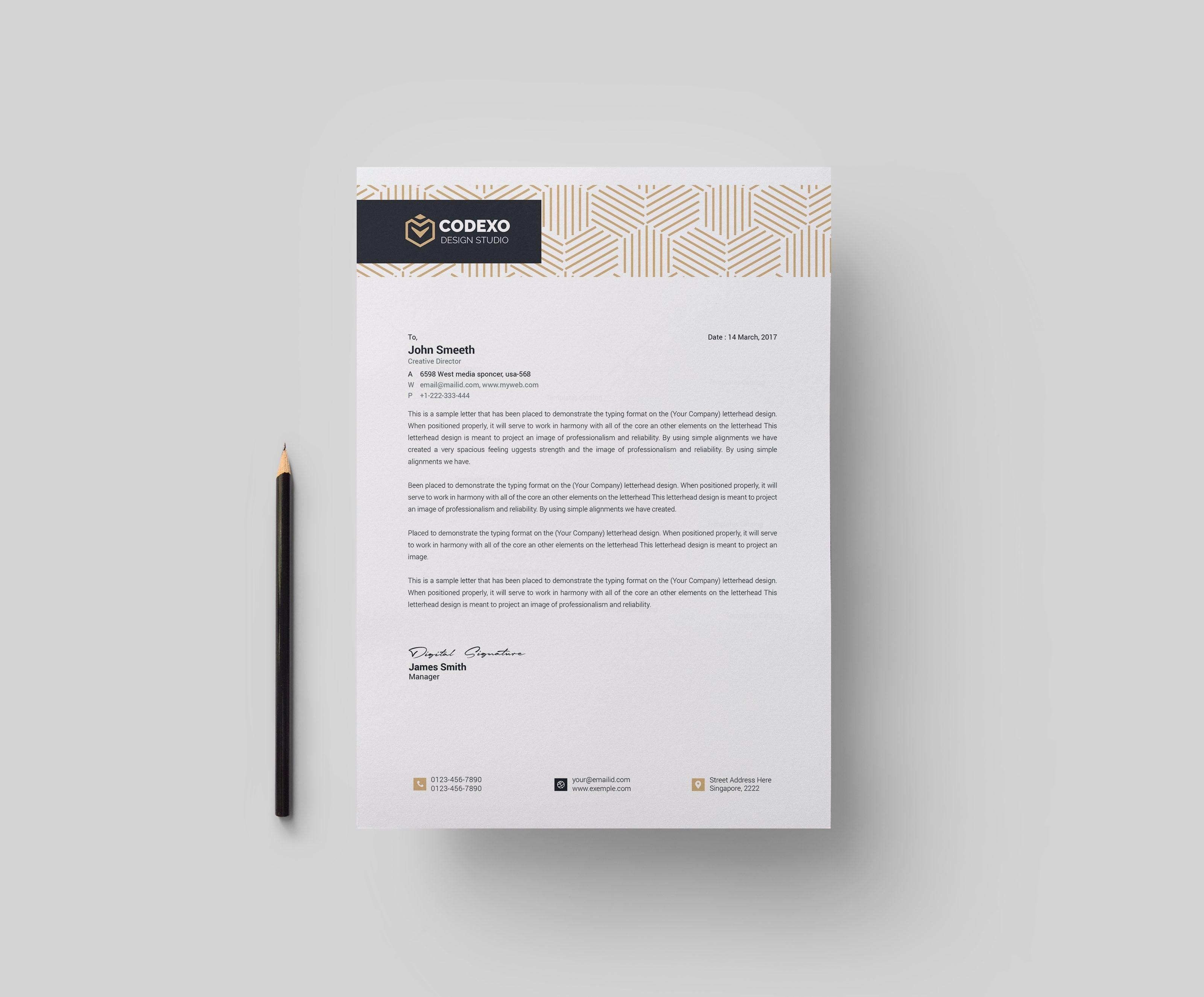 letterhead sample format