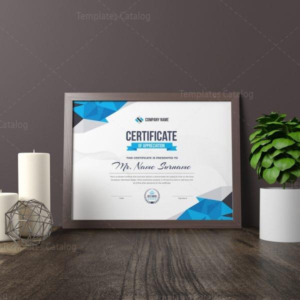 Diamond Elegant Professional Certificate Template 000858 Template