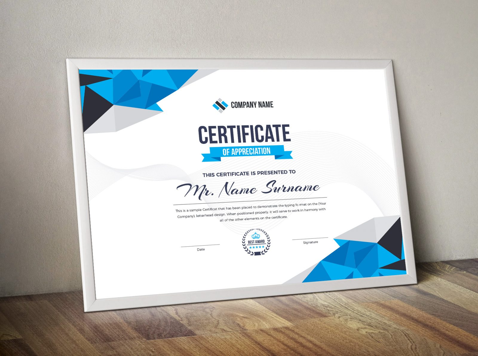 diamond elegant professional certificate template 000858