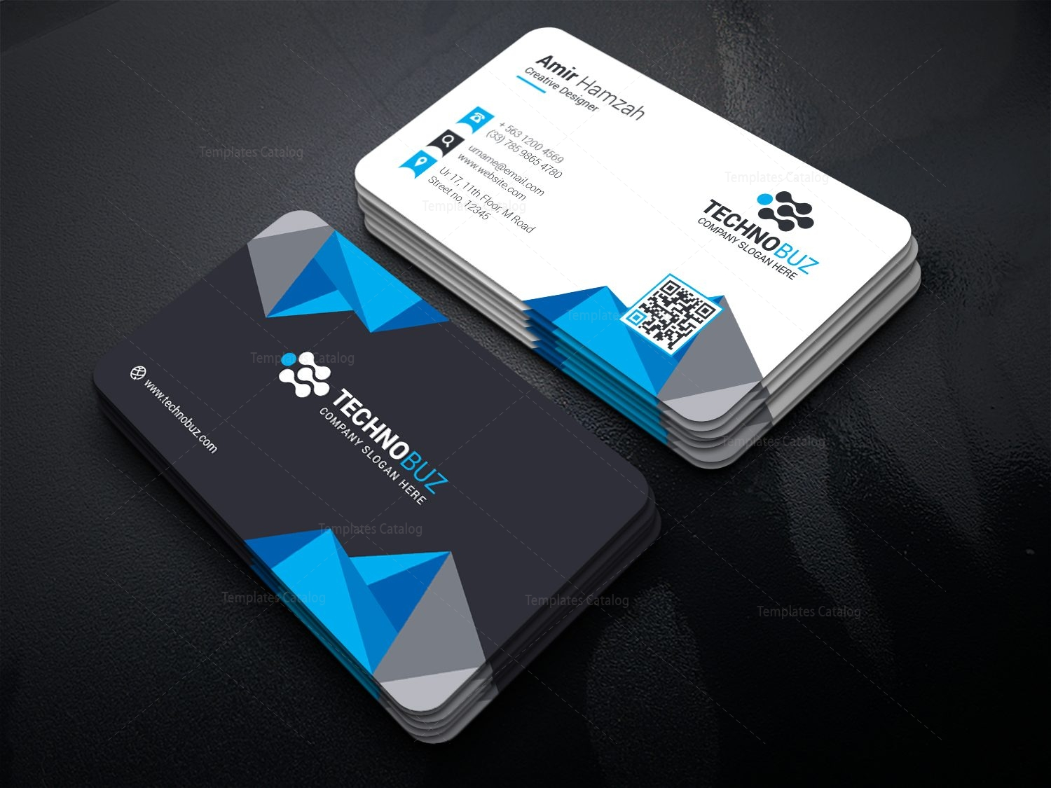 diamond premium stylish business card template 000813 template catalog