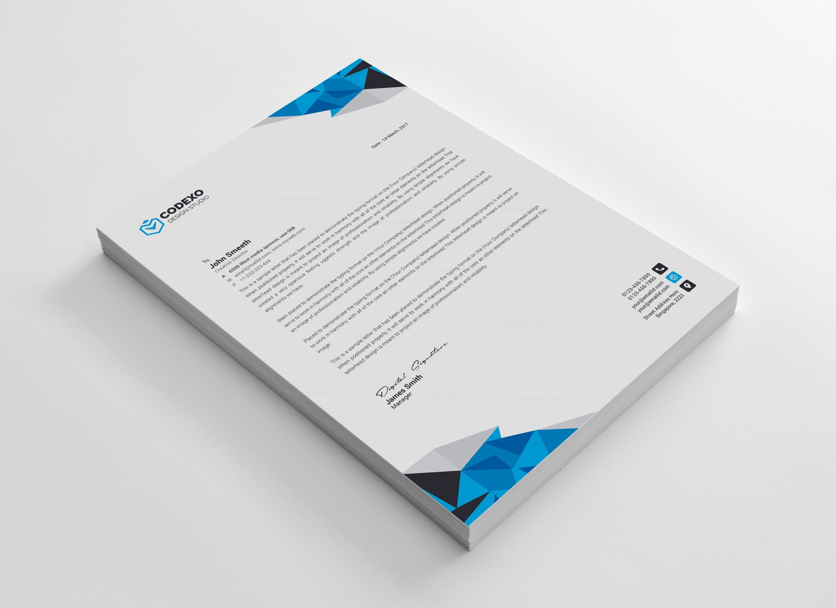 Diamond professional corporate letterhead template 000904 template diamond professional corporate letterhead template 2 spiritdancerdesigns Image collections