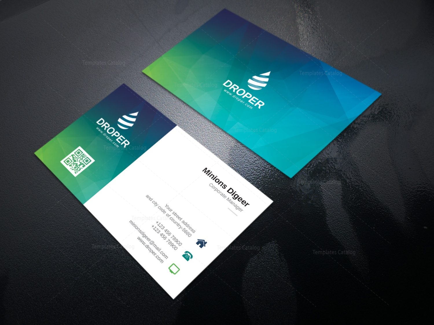 Dolphin Modern Corporate Business Card Template 000924 - Template ...
