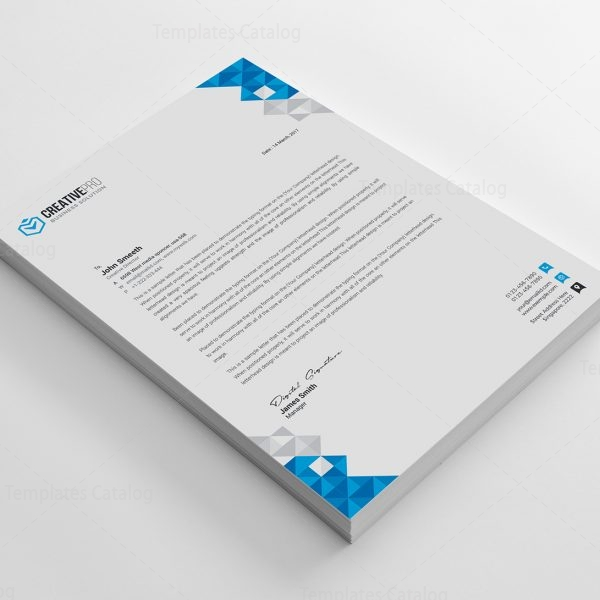 Ela Professional Corporate Letterhead Template   Template Catalog