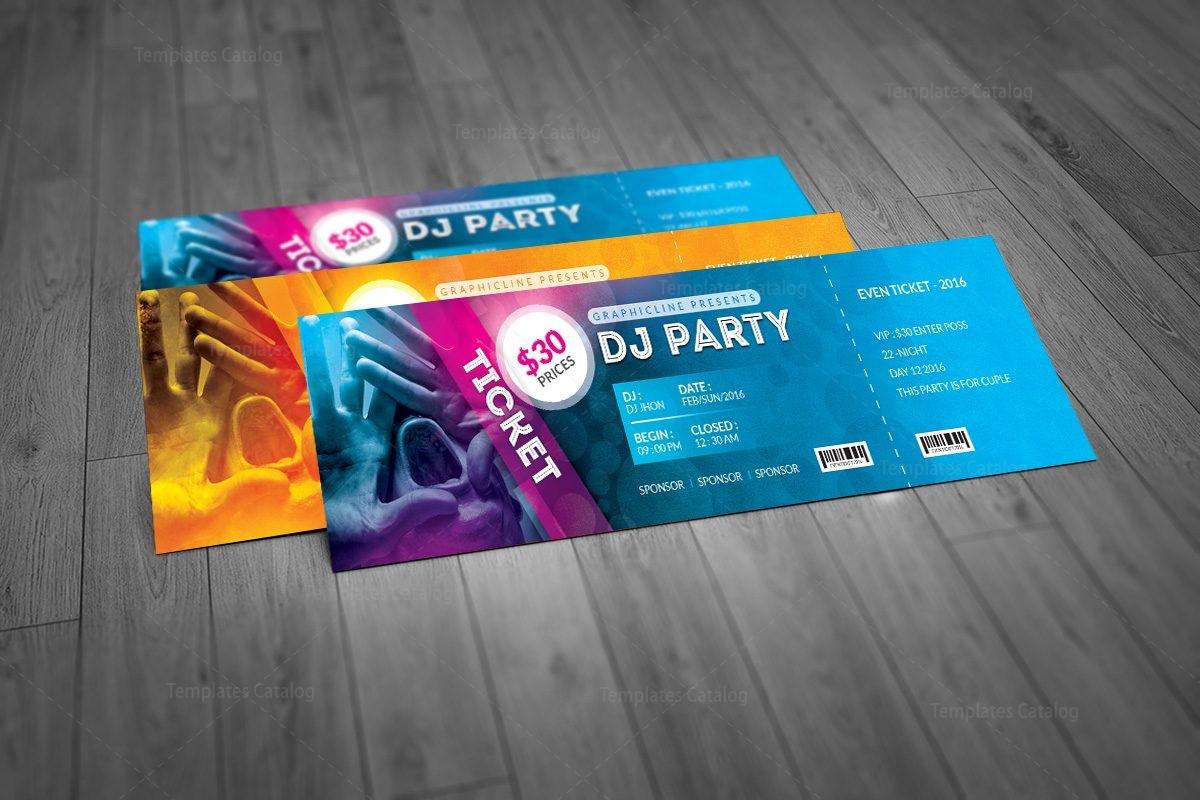 elegant event ticket template 000957 template catalog