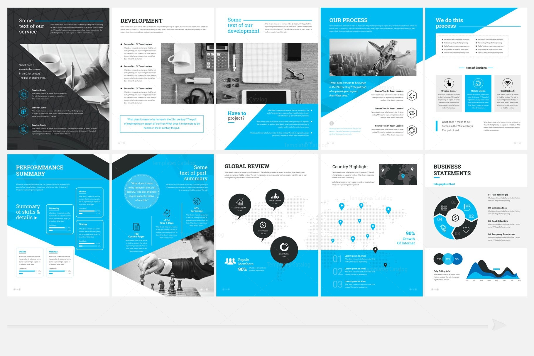 Elegant professional 32 pages brochure template 000960 for Free brochure templates for pages