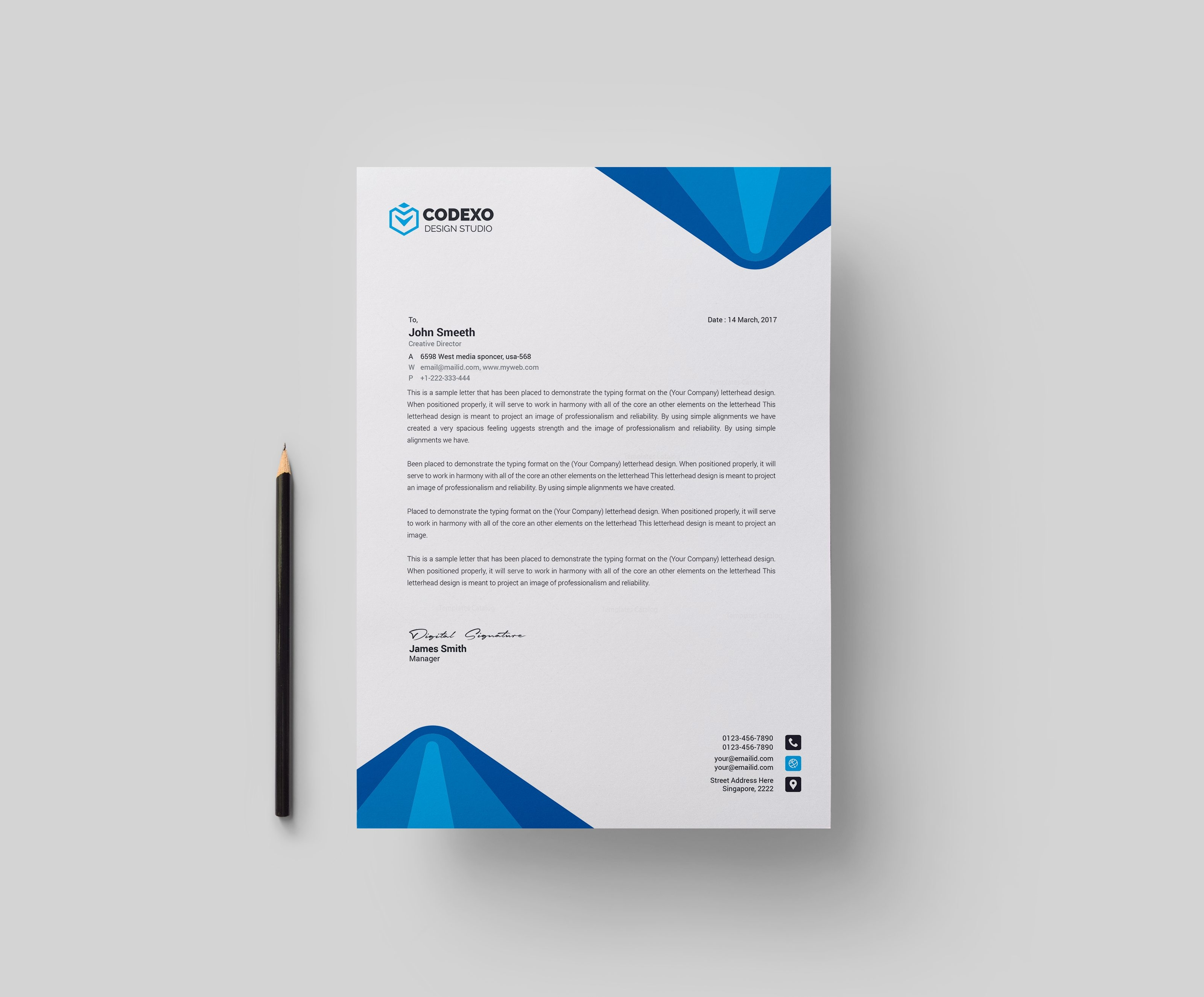 Create professional business letterhead juvecenitdelacabrera create professional business letterhead spiritdancerdesigns Images