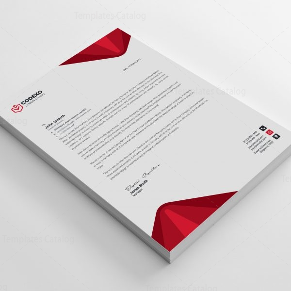 Elegant Professional Corporate Letterhead Template 000890: Elegant Professional Corporate Letterhead Template 000890