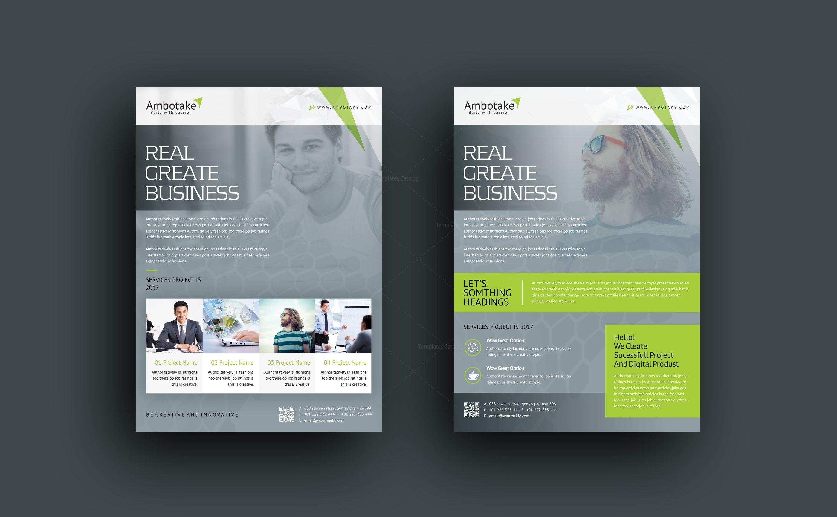 Erebus Professional Corporate Flyer Template 000995 - Template Catalog